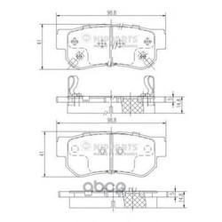 Колодки тормозные, комплект, задние (Nipparts) J3610509