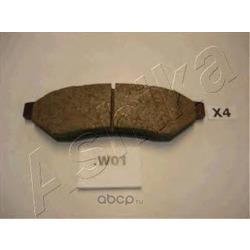 Комплект тормозных колодок, дисковый тормоз (Ashika) 510WW01