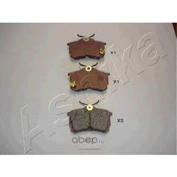 Комплект тормозных колодок, дисковый тормоз (Ashika) 5104407