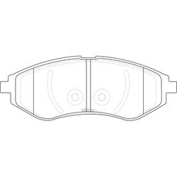 Колодки тормозные дисковые (FIT) FP1269