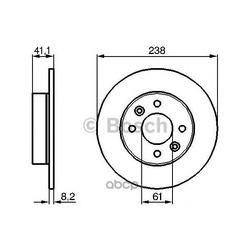 Тормозной диск (Bosch) 0986478273