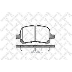 Комплект тормозных колодок (Stellox) 663000SX