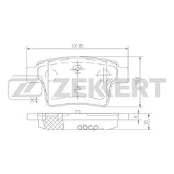 Колодки торм. диск. зад Ford Mondeo III 00- Jaguar X-Type 01- (Zekkert) BS1146