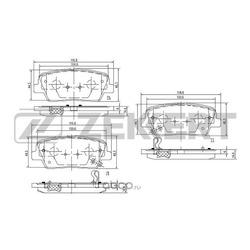 Колодки торм.диск. Hyundai Genesis 08- Santa Fe (CM)09- Kia Sorento (XM) 09-RE (Zekkert) BS2818