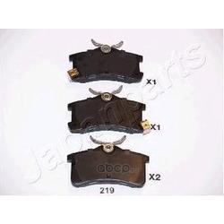 Комплект тормозных колодок, дисковый тормоз (Japanparts) PP219AF
