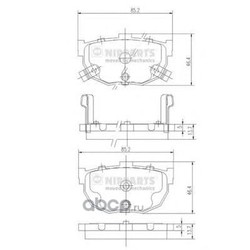 Комплект тормозных колодок, дисковый тормоз (Nipparts) J3610505