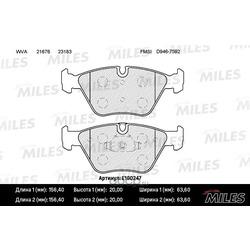 Колодки тормозные BMW E46 99-05/E83 04- передние (Miles) E100247