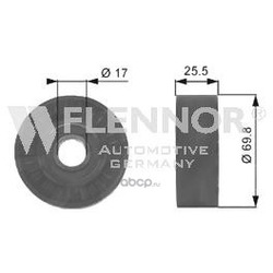 Натяжной ролик, поликлиновой ремень (Flennor) FS99244