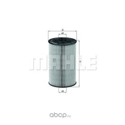 Масляный фильтр (Mahle/Knecht) OX150D1