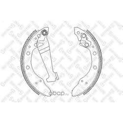 Комплект тормозных колодок (Stellox) 057100SX