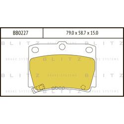Колодки тормозные дисковые (Blitz) BB0227
