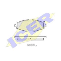 Комплект тормозных колодок, дисковый тормоз (Icer) 181262