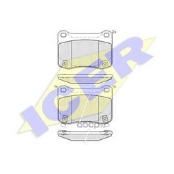 Комплект тормозных колодок, дисковый тормоз (Icer) 182015