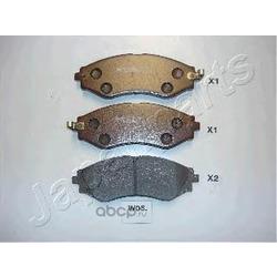 Комплект тормозных колодок, дисковый тормоз (Japanparts) PAW05AF