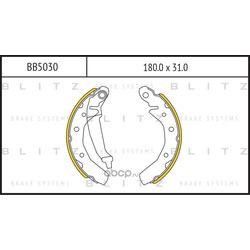 Колодки торм. барабанные (Blitz) BB5030