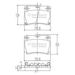Комплект тормозных колодок, дисковый тормоз (Nipparts) J3615011