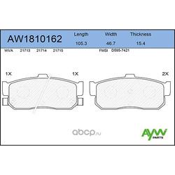 Колодки тормозные задние (AYWIparts) AW1810162