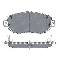 Колодки тормозные, комплект, передние (SCT) SP261
