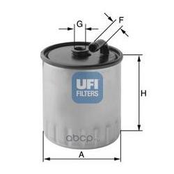 Топливный фильтр (UFI) 2442900