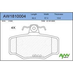 Колодки тормозные передние (AYWIparts) AW1810004