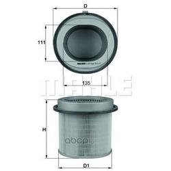 Воздушный фильтр (Mahle/Knecht) LX670