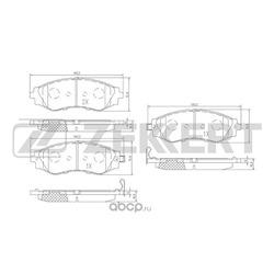 Комплект тормозных колодок, дисковый тормоз (Zekkert) BS2811