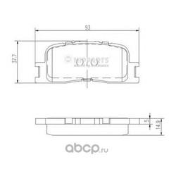 Комплект тормозных колодок, дисковый тормоз (Nipparts) J3612024