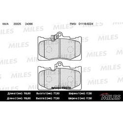 Колодки тормозные LEXUS GS 300/450h/460 05- передние (Miles) E100312