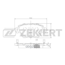 Колодки торм. диск. зад Ford Mondeo III 00- Jaguar X-Type 01- (Zekkert) BS2838