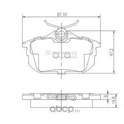 Комплект тормозных колодок, дисковый тормоз (Nipparts) J3615012