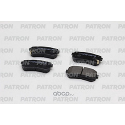 Комплект тормозных колодок, дисковый тормоз (PATRON) PBP1956KOR