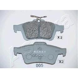 Колодки тормозные дисковые задние, комплект (Ashika) 5100005