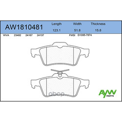 Колодки тормозные передние (AYWIparts) AW1810481