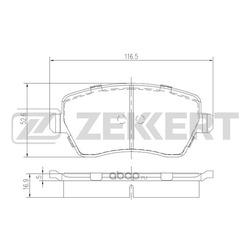 Колодки торм. диск. перед Nissan Micra (K12) 03- Note (E11) 06- Renault Clio III 05- Kangoo II 07 (Zekkert) BS1221
