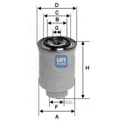 Топливный фильтр (UFI) 2441300