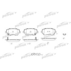 Колодки тормозные дисковые передн SUZUKI: SWIFT III 05- (PATRON) PBP4069