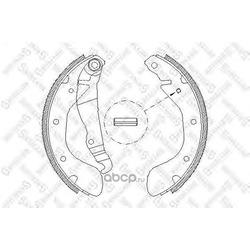 Комплект тормозных колодок (Stellox) 318100SX