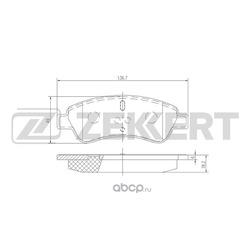 Колодки торм. диск. перед Citroen Berlingo I 96- C2 C3 I II C4 I 02- Xsara 98- Peugeot 206 20 (Zekkert) BS1433