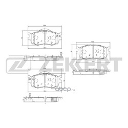 Колодки торм.диск. Hyundai Accent III / Verna 05- i20 (PB PBT) 08-/ Kia Rio II (JB) 05- FR (Zekkert) BS1776