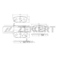 Колодки торм.диск. Kia Sorento I (JC) 02- RE (Zekkert) BS1918