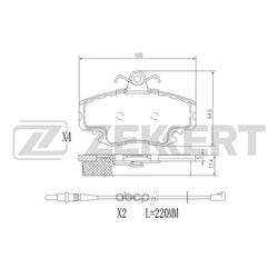 Колодки торм. диск. перед Renault Clio I II III 90- Logan I 04- Megane I 96- Sandero 07- Symb (Zekkert) BS1482
