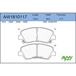 Колодки тормозные передние (AYWIparts) AW1810117