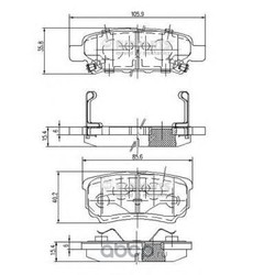Комплект тормозных колодок, дисковый тормоз (Nipparts) N3615015