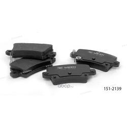 Тормозные колодки дисковые задние (Ween) 1512139