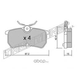Комплект тормозных колодок, дисковый тормоз (Trusting) 3260
