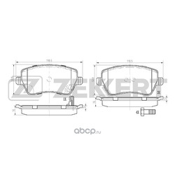 Колодки тормозные дисковые перед. Nissan Micra (K13) 10- Opel Agila B 08- Suzuki Splash 08- Swift (Zekkert) BS1248