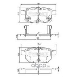 Комплект тормозных колодок, дисковый тормоз (Nipparts) J3612034