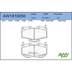 Колодки тормозные передние (AYWIparts) AW1810050