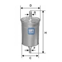 Топливный фильтр (UFI) 3174700