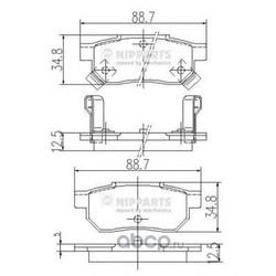 Комплект тормозных колодок, дисковый тормоз (Nipparts) J3614004